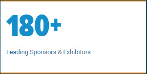 180+ Leading Sponsors and Exhibitors